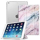 FINTIE Custodia per iPad Air 2 (Modello 2014) / iPad Air (Modello 2013) - Ultra Sottile del Basamento Leggero Smart Cover Case con Auto Svegliati/Sonno Funzione, Marble Rosa