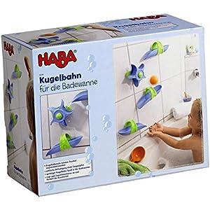 Haba 6699 – Kugelbahn Badespaß Wasserstrudel, spritziger Kugelbahn-Spaß ab 3 Jahren für die Badewanne, Badespielzeug mit leichtem, variablen Aufbau