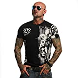 Yakuza Original Herren Waiting Death T-Shirt Schwarz Large