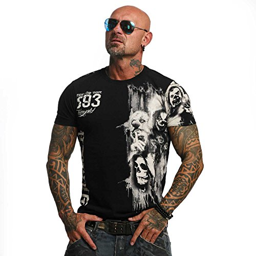 Yakuza Original Herren Waiting Death T-Shirt Schwarz XXXX-Large