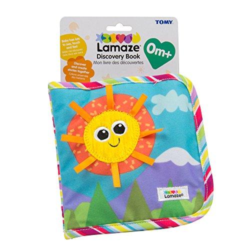 Lamaze Baby Spielzeug Entdeckungsbuch Clip & Go - hochwertiges Kleinkindspielzeug - Baby Buch Anhänger zur Stärkung der Eltern-Kind-Beziehung - ab 0 Monate (Stoff-buch)