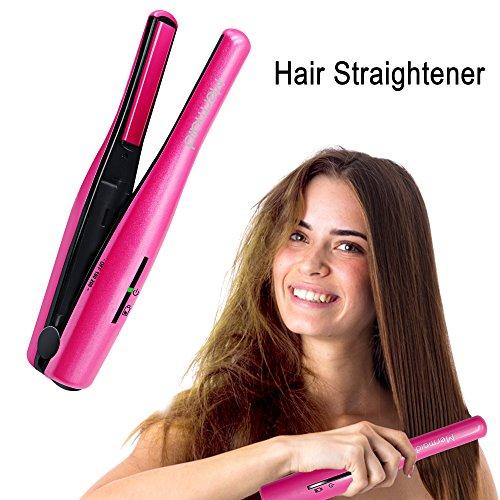 Mermaid 2 en 1 Plancha de Pelo Inalámbrica USB Recargable y Rizador de pelo,Plancha para el Pelo de cerámica Alisador de Cabello Profesional,Arreglar el estilo rápido,Conveniente para el recorrido (rose)