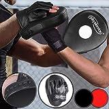 Almohadillas de Entrenamiento de Boxeo - 27/22cm, Negro/Rojo-Negro - Deportes de Combate, Artes...