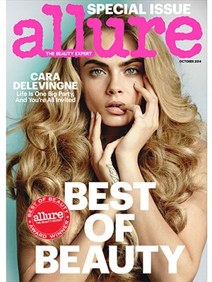 Allure Magazine October 2014 - Cara Delevingne on Cover - Best of Beauty
