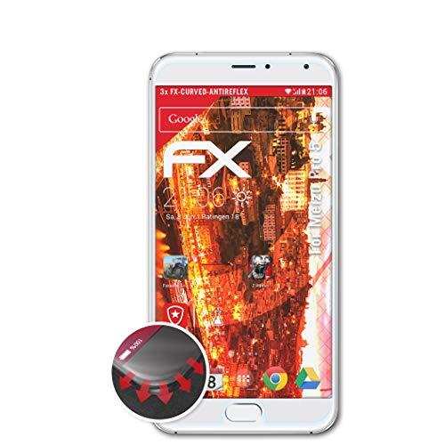atFolix Schutzfolie passend für Meizu Pro 5 Folie, entspiegelnde & Flexible FX Bildschirmschutzfolie (3X)
