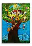 Poster fürs Kinderzimmer - Wunschbaum von E.M.Ott-Heidmann aus schnurverlag