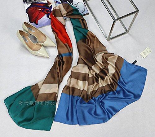 TIANLU Richtig ist, dass sich die wahre Eng Eng Handtuch Handtuchhalter Maulbeerseide langer Schal Klimaanlage Gehäuse, 03,180 (Gehäuse Klimaanlage)
