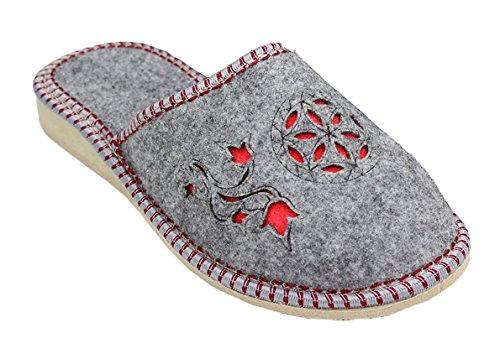 TupTam - Zapatillas de Estar por casa de Fieltro para Mujer, Color Gris, Talla 40