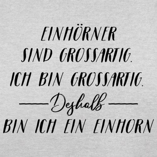 Ich Bin Grossartig - Einhorn - Herren T-Shirt - 13 Farben Hellgrau