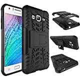 Dream2cool FOR Samsung Galaxy J3 2016 Tough Hybrid Flip Kick Stand Spider Hard Dual Shock Proof Rugged Armor Bumper Back Case Cover For Samsung Galaxy J3 2016 (BLACK)