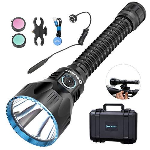 OLIGHT JAVELOT PRO - Linterna LED recargable (2100 lúmenes, alcance de hasta 1080 m, 4 modos de iluminación, accesorios completos), Schwarz Kit 25.00W 3.60V