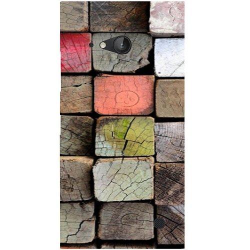 Casotec Wood Lumber Paint Design Hard Back Case Cover for Nokia Lumia 730
