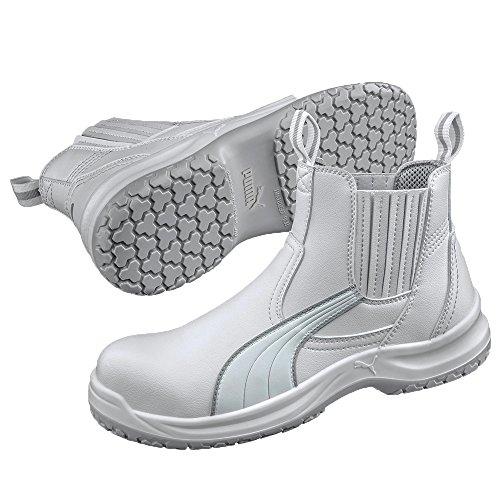 Puma Safety Shoes S2 CLEAR CHELSEA MID, Puma 630380-100 Unisex-Erwachsene Sicherheitsschuhe, Weiß (weiß 100), EU 42