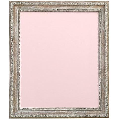 Frames by Post AP-3025 apenado madera marco de fotos con negro, blanco, marfil, rosa o azul con capdeville, plástico, rosa (tabla de refuerzo), A2 (cristal plástico)