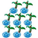 Anladia 8 Stück Kokosnussbaum Insel Getränkehalter Dosenhalter Becherhalter Poolparty Sandparty Deko