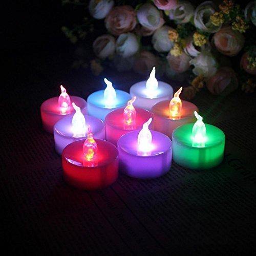 L&R Velas ligeras del té de LED sin llama con pilas colores LED vela lámparas, proponemos Mostrar Props(24 Pack)