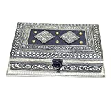#5: Decorative Meenakari Handcrafted Heart Design Decorative Box/mukhvas Box/Dry Fruit Box/Sweet Box for Festivals/Gift/Wedding/Function (21x25x5 cm)