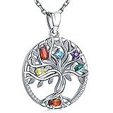 Friggem Collar 925 de Plata esterlina, Colgante de delicadas Piedras infinitas para Mujeres niñas con Caja de Regalo, Cadena de 18 Pulgadas