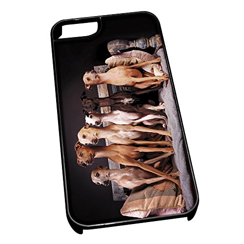 black-cover-for-iphone-5-5s-0197-italian-greyhound-dog