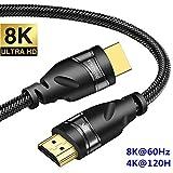 YIWENTEC 8K HDMI Cavo in rame UHD HDR 8K 48Gbps, 8K @ 60Hz 4K @ 120Hz Supporto Cavo HDCP 3D HDMI per videoproiettori PS4 SetTop Box Proiettori HD (2M, 8K)