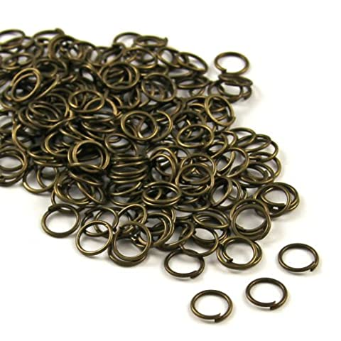 Angel Malone 200 x 8mm ANTIQUE BRONZE Plated Superior Strong Metal Jump Rings, 0.8mm thick. Lead Free, Nickel Free & Cadmium
