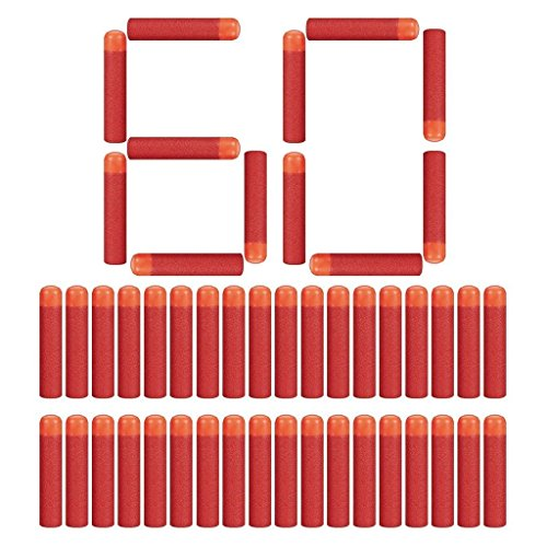 Little Valentine 60 Stück 9,5cm Mega Dart Schäumen Mega Preile Nachfüllpackung für N-Strike Mega Series - Rot (Mega Blaster Dart)