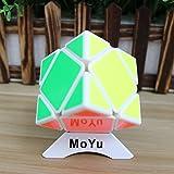 MoYu Skewb Puzzle Cube cubo mágico Puzzle velocidad velocidad de giro Toy + uno personalizado trípode (blanco)