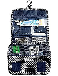 Navy Star : Multifunctional Portable Hanging Toiletry Bag / Cosmetic Bag / Makeup Bag For Travel With Hanger/Hook...