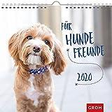 Für Hundefreunde 2020: Dekorativer Wandkalender mit Monatskalendarium