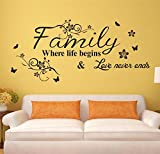 Lifme Liebe Familie, Wo Das Leben Beginnt Liebe Endet Nie Abnehmbare Wand Aufkleber Wohnzimmer Vinyl Kunst Schlafzimmer Home Decor Wandbild Aufkleber