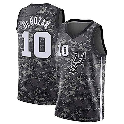ZAIYI-Jersey Herren Basketball Trikot DeMar DeRozan # 10 NBA San Antonio Spurs-New Stoff Bestickt Swingman Jersey ärmelloses Shirt (Color : A, Size : XXL) (San Antonio Spurs Trikot)