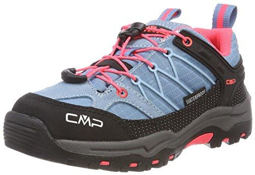 CMP Unisex-Erwachsene Rigel Low Trekking- & Wanderhalbschuhe, Türkis (Clorophilla-Red Fluo 89bd), 35 EU