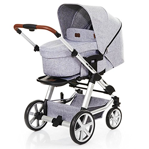ABC Design Turbo 4 - Kombikinderwagen - Komplett-Set 2in1 - inkl. Babywanne & Sportwagen (Graphite Grey)