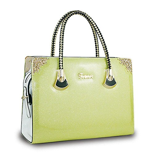 Koson-Man-Borsa Vintage da donna, borsetta per impugnatura, giallo (Giallo) - KMUKHB248