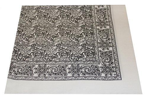Tobeni 548 Bandana Kopftuch Halstuch Nickituch in 100 Baumwolle für Damen und Herren Farbe Turkey Weiss Grösse 54 cm x 54 cm