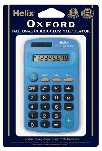 Oxford 979118 Helix Basic - Calculator, blue color