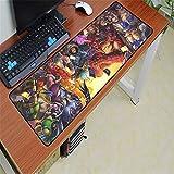 Tappetino per mouse da tastiera in gomma lavabile per computer tastiera mouse pad 1 600x300x2