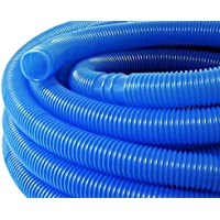 WilTec Manguera piscina azul con manguitos 32mm 1,5m 165g/m tubo plástico piscinas jardín Fabricado en Europa