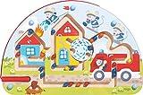 HABA 301475 - Magnetspiel Mäusefeuerwehr |Wunderschön illustriertes Baby- und Kleinkindspielzeug ab 2 Jahren| Lernspiel aus Holz
