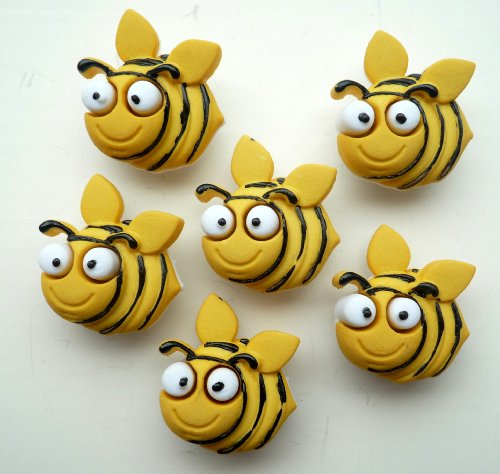 Bug Eyed Bees Novelty Craft Buttons & Embellishments by Dress It Up