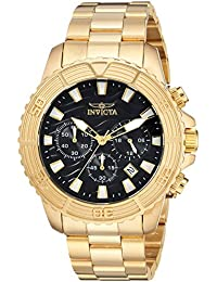 Invicta Men's 'Pro Diver' Quartz Stainless Steel Casual Watch, Color:Gold-Toned (Model: 24000)