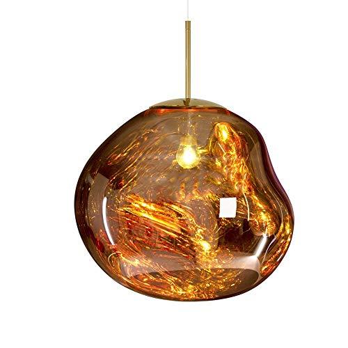 Post-Modern Melt Glass Kronleuchter Lava Unregelmäßige Hängelampe Wohnzimmer Schlafzimmer Restaurant Home für Moderne D20 / 30CM Silber Gold Rose-Gold Galvanisieren Spiegel Deckenpendelleuchte -
