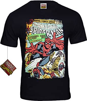 original Marvel Comics SPIDER MAN Retro Herren T-Shirt CHAMELEON navy Gr. S-XL (M)