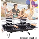 Barbacoa de mesa con dos parrillas 43 x 25 cm - mod. KALBARRI - BBQ COLLECTION