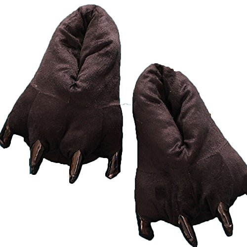 Hippolo FashionFits Unisex Soft Plush Home Slippers Animal Costume Paw Claw Shoes
