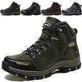 KAMIXIN Scarpe da Escursionismo Uomo Donna Stivali da Escursionismo Alti Scarpe da Arrampicata Scarpe da Trekking All'aperto Sneakers Calzature da Escursionismo Verde EU46