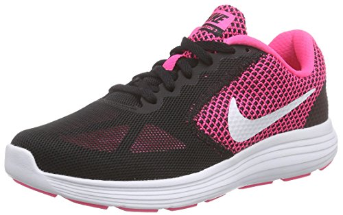 Nike wmns revolution 3, scarpe running donna, rosa (hyper pink/white/black), 36.5 eu
