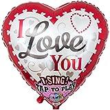 """Ballongruesse - Singender Ballon in Herzform """"I Love You"""" (74cm gasgefüllt im Karton) tolles Geschenk Präsent Überraschung Geschenkidee Geburtstagsgrüße Geburtstagsgeschenk Geburtstagsdekoration Deko oder Dekoration kreativ originell witzig lustig zum Kindergeburtstag Party Fete Feier Fest Jahrestag Ehrentag Jubiläum Ballonfahrt, gasgefüllte schwebende fliegende Ballons Folienballons Luftballons mit Helium Ballongas"""