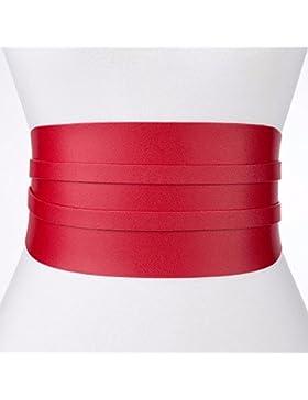 Moda primavera en 2018 mujer vestido decorado camisa larga cinturón ancho cintura ampliado,De gules