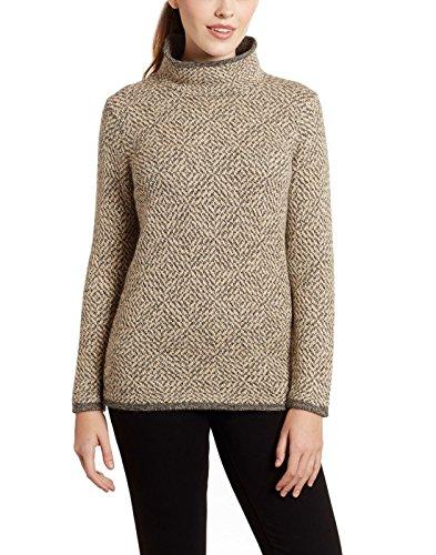 Damen 100% Alpaka Pullover Jumper Tunika Sweater